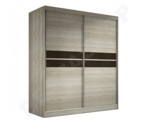 Armoire design portes coulissantes coloris chêne Mavrick-183cm