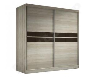 Armoire design portes coulissantes coloris chêne Mavrick-203cm