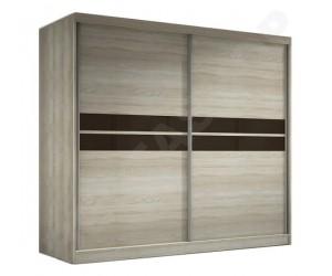 Armoire design portes coulissantes coloris chêne Mavrick-233cm