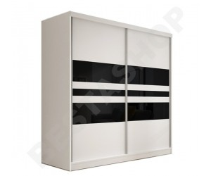 Armoire design 3 portes noire et blanche Thalis-183cm