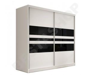 Armoire design 3 portes noire et blanche Thalis-203cm