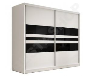 Armoire design 2 portes noire et blanche Thalis-233cm
