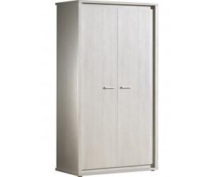 Armoire 2 portes contemporaine coloris gris NOE