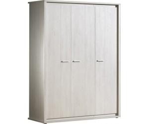 Armoire 3 portes contemporaine coloris gris NOE