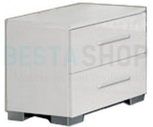 Chevet design 2 tiroirs blanc laqué ELEANE