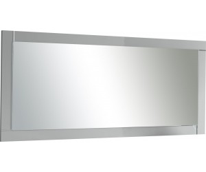 Miroir coloris blanc laqué brillant-MARINA