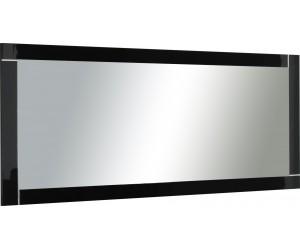 Miroir coloris noir laqué brillant-DINA