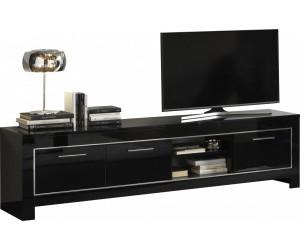 Meuble TV design de 207 cm noir laqué ARTEMIS