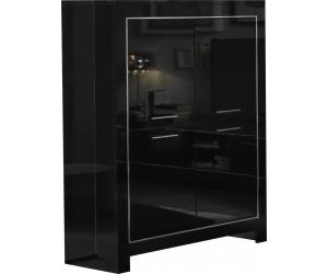 Meuble de bar 4 portes noir laquée ARTEMIS