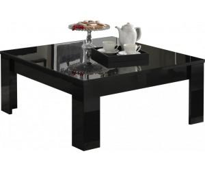 Table basse carrée design noir laquée ARTEMIS