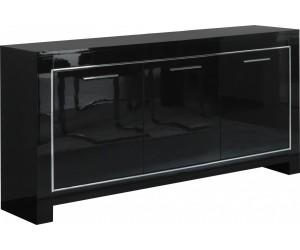 Bahut 3 portes battantes coloris noir laqué ARTEMIS