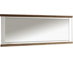 Miroir rectangulaire contemporaine 206 cm coloris havana/blanc ZOLA
