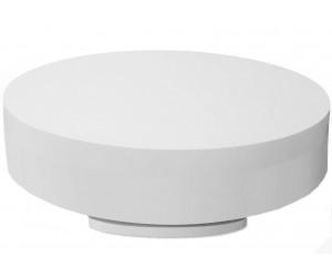 Table basse design 110 cm ronde blanc laqué laquée BELIUS