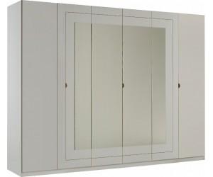 Armoire 6 portes design blanc laqué qualité supérieure ROMANTIQUE
