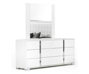 Commode 3 tiroirs design blanc laqué qualité supérieure STARLA