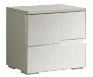 Chevet design 2 tiroir blanc laqué qualité italien ERIKA