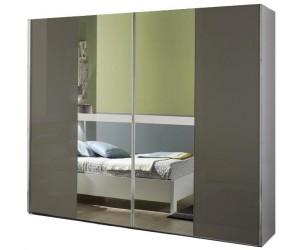 Armoire à coulissantes design blanc et gris laqué qualité italienne DAMA