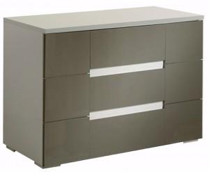 Commode 3 tiroirs design design blanc et gris qualité italienne DAMA