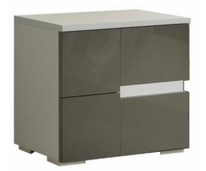 Chevet design 2 tiroir blanc et gris qualité italienne DAMA
