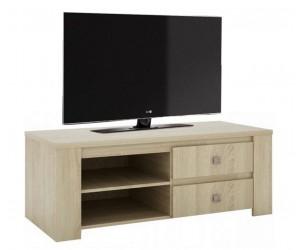 Meuble TV 120 cm contemporain chêne clair MIRAGE
