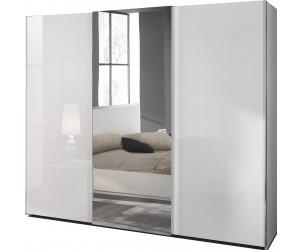 Armoire à coulissantes design 266cm blanc laqué qualité italien SEVILLA