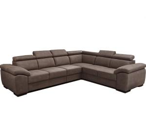 """Canapé d'angle en forme de """"U"""" avec une méridienne à gauche ou droit coloris tissu taupe DAMME"""