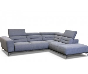 Canapé d'angle design ultra moderne design extrêmement confortable en tissu couleur gris ELIZA
