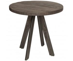 Table à manger Iron Craft 80cm ronde gris mangue