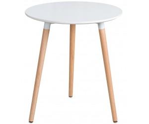 Table de salle a manger bistrot Scandinavie 60cm blanc