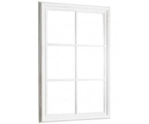 Miroir mural Fenêtre 105cm gris vintage blanc