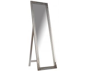 Miroir sur pied Versailles 160cm argent