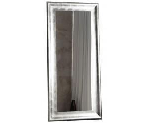 Miroir sur pied Brillado 180cm argent
