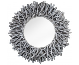 Miroir Riverside 80cm gris bois flotté