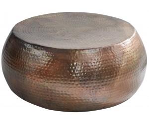 Table basse Orient 80cm cuivre flammé