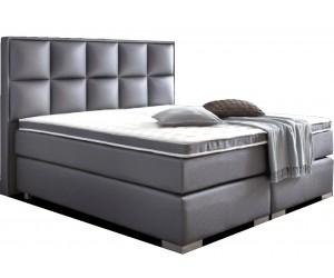 Boxspring de qualité bedden design avec matelas luxury gris LANDER