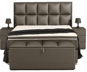 Boxspring de qualité bedden design avec matelas luxury taupe LANDER
