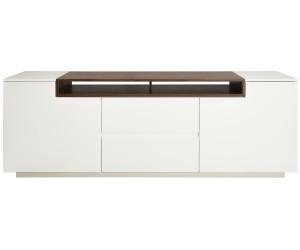 Meuble TV Loft 180cm noyer blanc