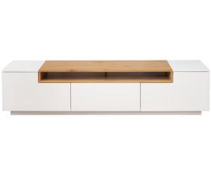 Meuble TV Loft 180cm chêne blanc