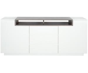 Buffet Loft 180cm béton blanc