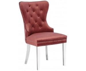 Chaises de salle à manger design capitonnées beige ANNEAU