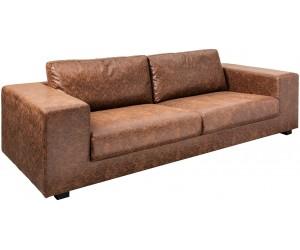 Canapé transat 220cm marron vintage