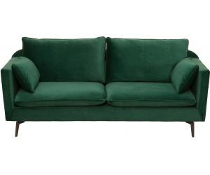 Canapé Famous 210cm velours vert