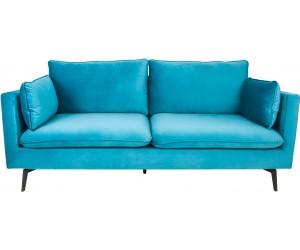Canapé Famous 210cm bleu velours