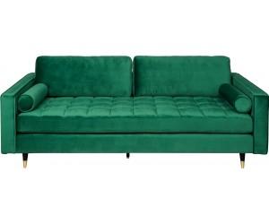 Canapé Cozy Velvet 225cm velours vert émeraude