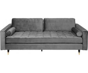 Canapé Cozy Velvet 225cm velours gris