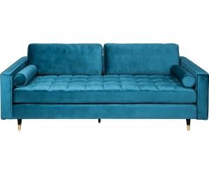 Canapé Cozy Velvet 225cm velours bleu
