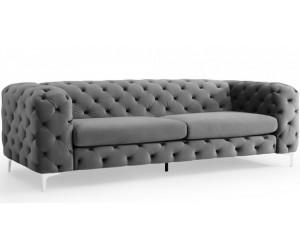 Canapé baroque moderne 240cm gris