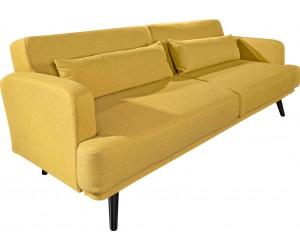 Canapé-lit 210cm jaune moutarde