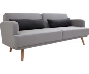 Canapé-lit 210cm gris