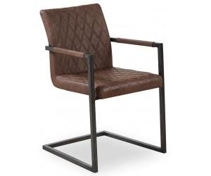 Chaise de salle à manger design brun TOSSBERG